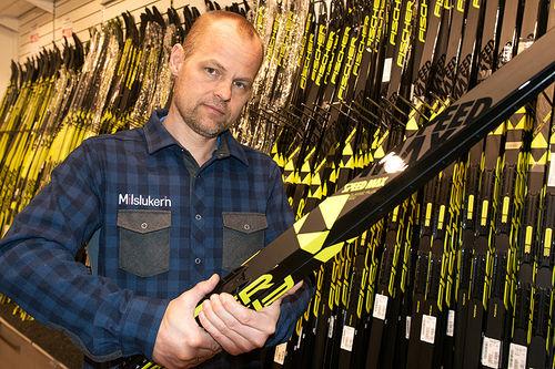 Aslak Berglund i Milslukern Sport vil hjelpe deg å få kontroll på skiparken. Foto: Milslukern Sport.
