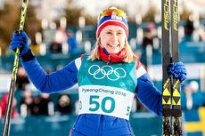 Ragnhild Haga ble olympisk mester på 10 km fri teknikk under OL Pyeongchang 2018. Foto: Modica/NordicFocus.