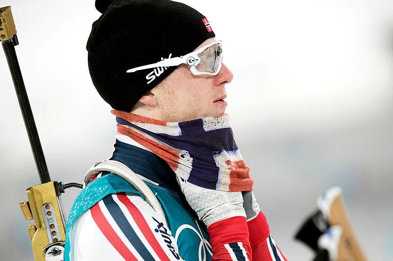 Johannes Thingnes Bø under OL i Pyeongchang 2018. Foto: Manzoni/NordicFocus.
