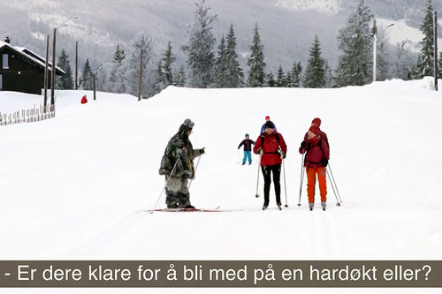 Trollene inntar Hafjell Skimarathon. Skjermdump fra LangrennsTV på YouTube.