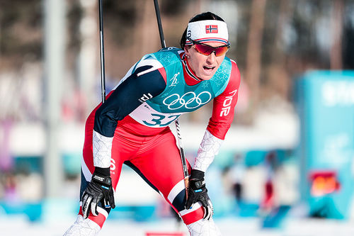 Marit Bjørgen under OL i Pyeongchang 2018. Foto: Modica/NordicFocus.