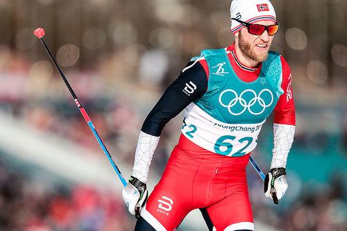 Martin Johnsrud Sundby fikk den sure fjerdeplassen på 15-kilometeren under OL i Pyeongchang 2018, bare 1,9 sekunder fra pallen. Foto: Modica/NordicFocus.