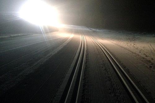 Trikkeskinnene ligger klare for Hafjell Ski Marathon som gjennomføres 25. februar 2018. Foto: Hafjell Ski Marathon.