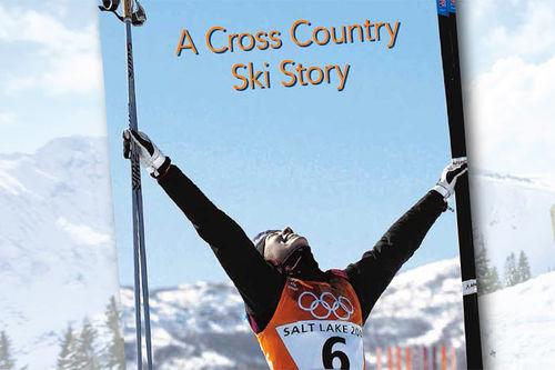 Utsnitt fra omslaget til boka A Cross Country Ski Story. Utgitt av Bjørger V. Pettersen og BPA Limited.