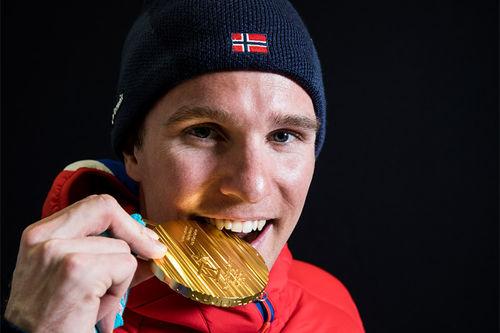 Didrik Tønseth inngikk i det norske gullaget under OLs herrestafett i Pyeongchang og Sør-Korea 2018. Foto: Modica/NordicFocus.