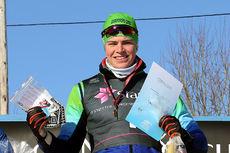 Andreas Kirkeng vant gull på 15 km klassisk for menn 18 år under Junior-NM i Steinkjer 2018. Foto: Erik Borg.