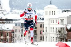 Eirik Brandsdal under verdenscupsprinten i Drammen 2018, der han til slutt endte på 2.-plass. Foto: Thibaut/NordicFocus.