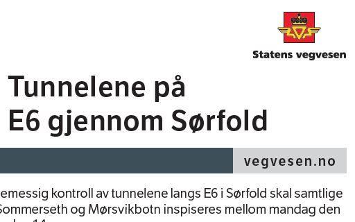 Tunneler Sørfold inspeksjon utklipp
