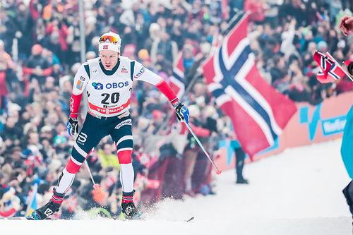 Sjur Røthe under verdenscupen i Holmenkollen forrige vinter. Foto: Modica/NordicFocus.