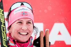 Marit Bjørgen har nylig sikret seieren på 3-mila i Holmenkollen 2018. Foto: Modica/NordicFocus.