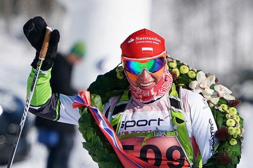 Justyna Kowalczyk inn til seier i Birken - Birkebeinerrennet 2018. Foto: Magnus Östh / Visma Ski Classics.