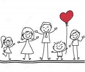 Illustrasjon - lykkelig familie
