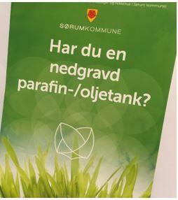 bilde av forsiden av en folder om nedgravd parafin- oljetank