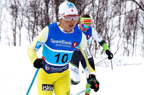 Masako Ishida på vei mot seier i Reistadløpet 2018. Foto: Magnus Östh/Visma Ski Classics.