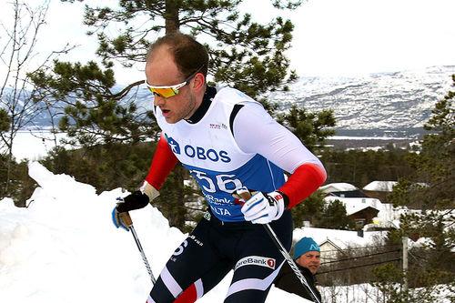 Espen Udjus Frorud gikk seg inn til bronse på femmila under NM i Alta 2018. Foto: Erik Borg.
