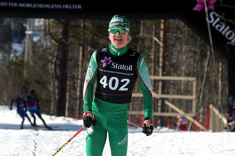 Iver Tildheim Andersen inn til seier i klasse Menn 18 år under Norgescup-finalen i Alta 2018. Foto: Erik Borg.