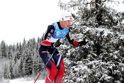 Eirik Bye, en av utøverne på landslaget for funksjonshemmede, i aksjon på Beitostølen. Foto: Erik Borg.