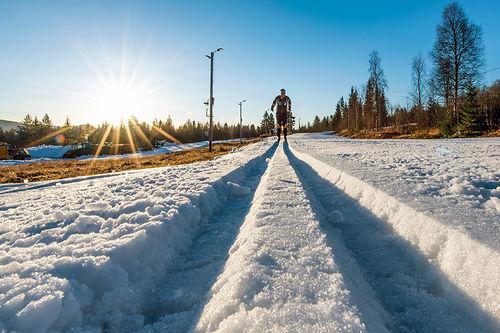 I Trysil starter langrennssesongen 27. oktober, på lagret snø. Foto: Hans Martin Nysæter/Destinasjon Trysil.