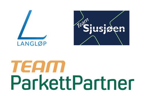 Logo for Team ParkettPartner, Team Sjusjøen og Langløp.
