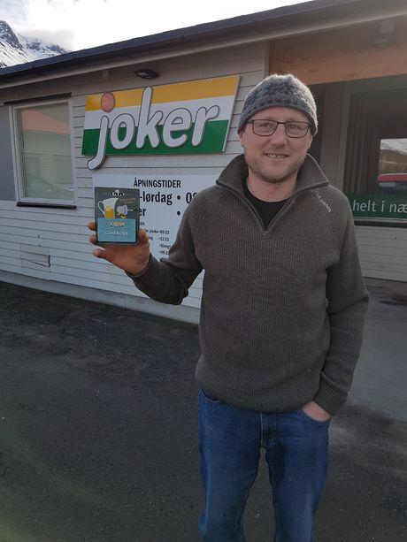 Tony Teodorsen vinner av Jokergavekort