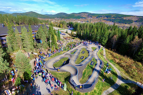 Pumptrack i Trysil. Foto: Are Tallaksrud/Response Nordic AS.