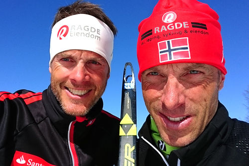 Jørgen (t.v.) og Anders Aukland. Foto: Privat.