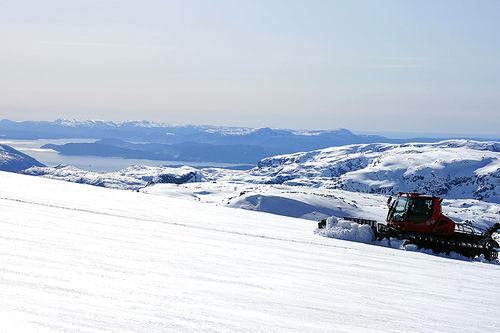 Folgefonna har fått en knallstart på sommersesongen. Foto: Fonna Glacier Ski Resort.