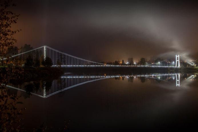 natt lys bru Rånåsfoss