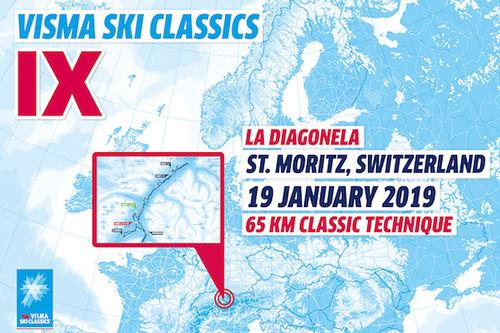 Visma Ski Classics - 4. renn sesongen 2018/2019.