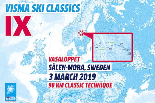 Visma Ski Classics - 8. renn sesongen 2018/2019.