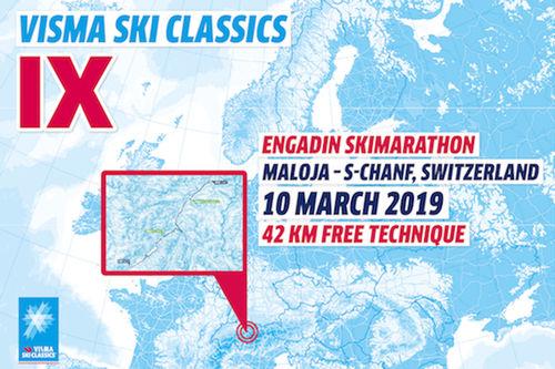 Visma Ski Classics - 9. renn sesongen 2018/2019.