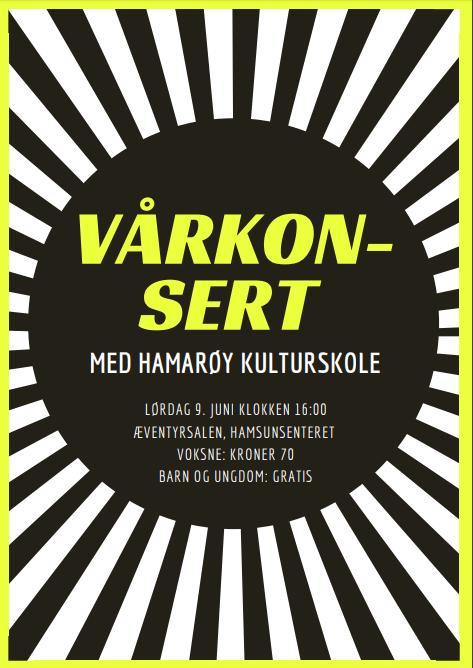 plakat vårkonsert
