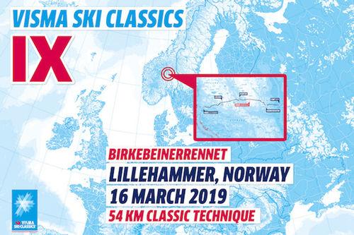 Visma Ski Classics - 10. renn sesongen 2018/2019.