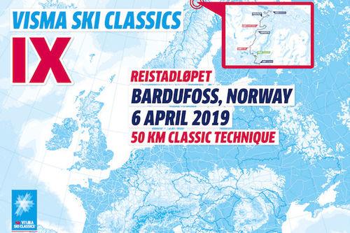 Visma Ski Classics - 6. renn sesongen 2018/2019.