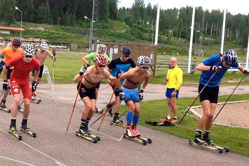 Rulleskitrening med Team Craft Østfold. Teamfoto.