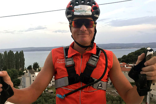 – Rulleskirenn er god trening mot vinterens skirenn, mener Vinjar Skogsholm. Foto: Privat.