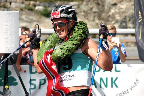 Morten Eide Pedersen vant Olaf Skoglunds Minneløp 2017. Foto: Guide World Classic Tour.