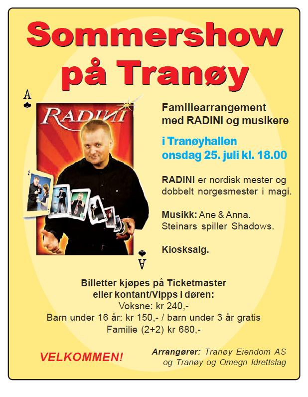 Sommershow på Tranøy radini