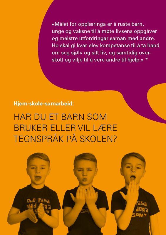 Tegnspråkbrosjyre, bilde av forsiden