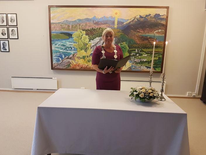 Første vigsel 040718 - Varaordfører Linda Salemonsen