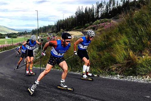 Rennleder Trym Halbjørhus og Ragnar Bragvin Andresen var to av løperne som gjorde opp om seieren i sprintfinalen. Førstnevnte kapret pallens øverste trinn. Arrangørfoto.