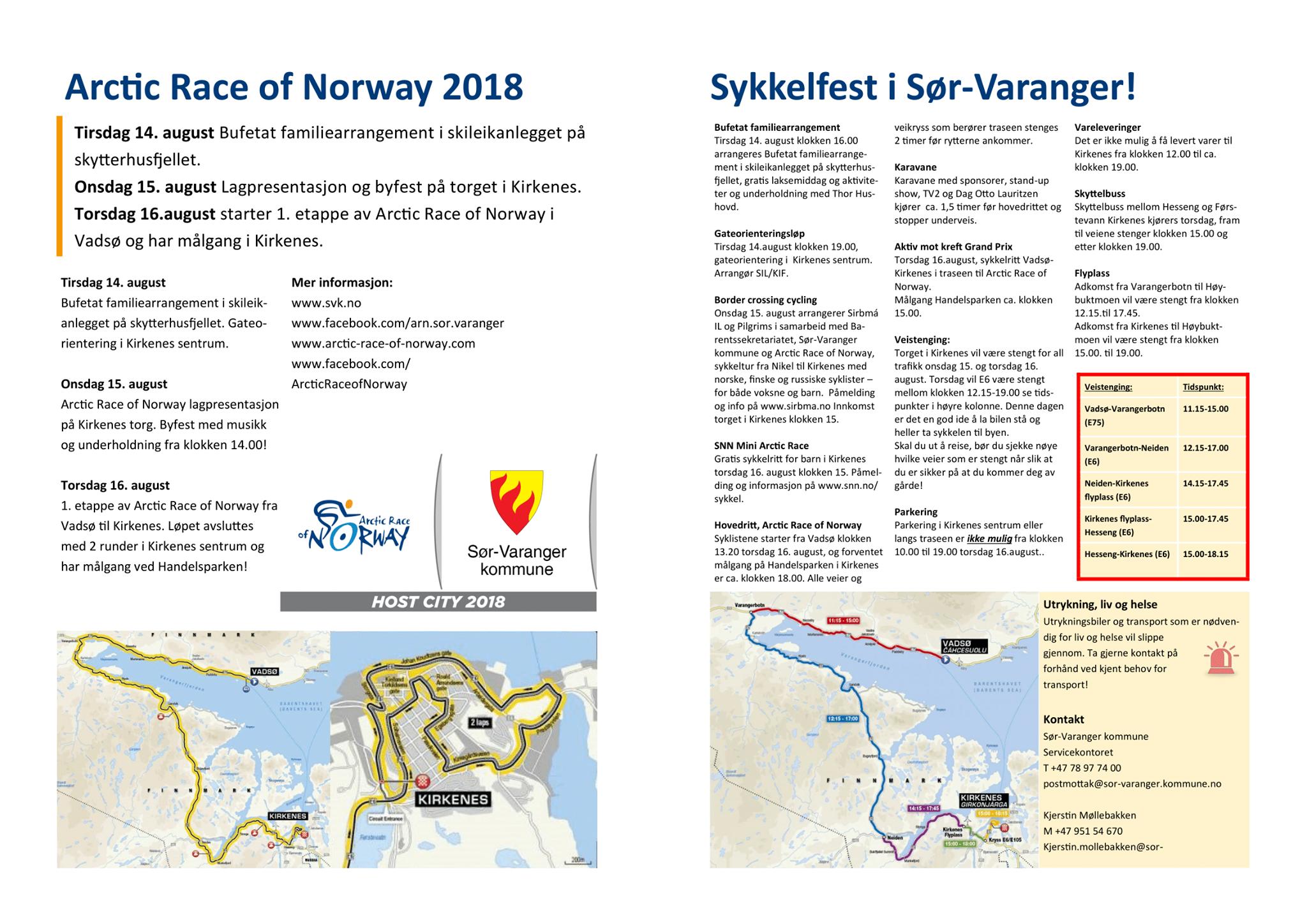 5ea9d88a Stengte veier og praktisk informasjon om ARN - Sør-Varanger kommune