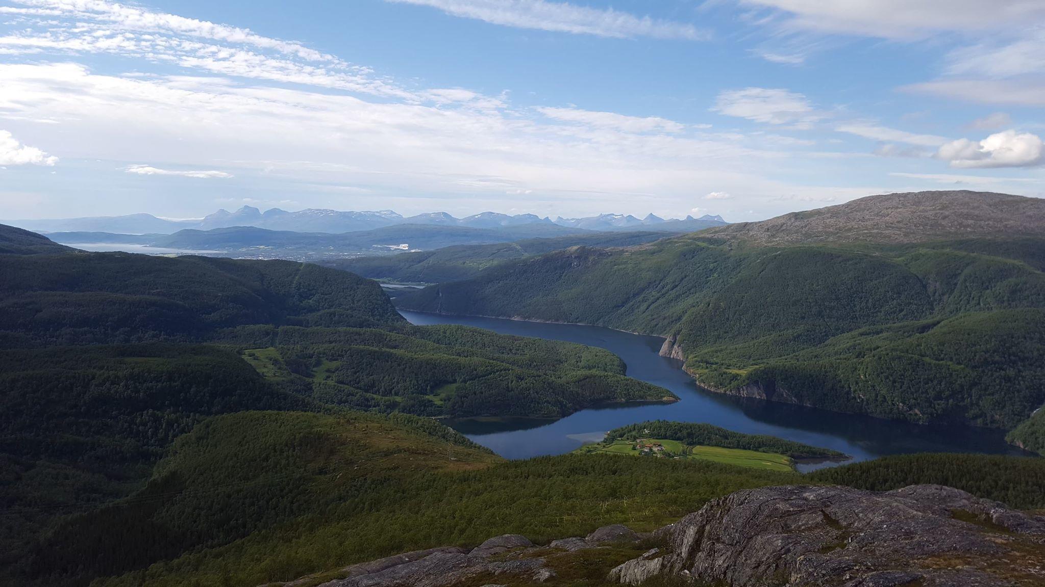 Fauske - Solvika mot Lofoten juli 2018