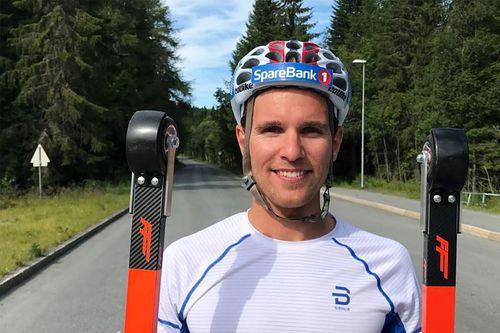 Didrik Tønseth med rulleski fra FF Rollerskis.