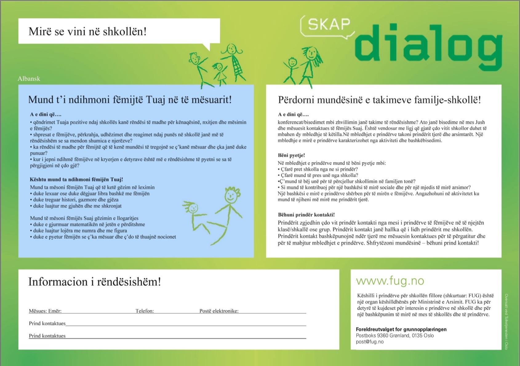 Skap dialog 1 albansk