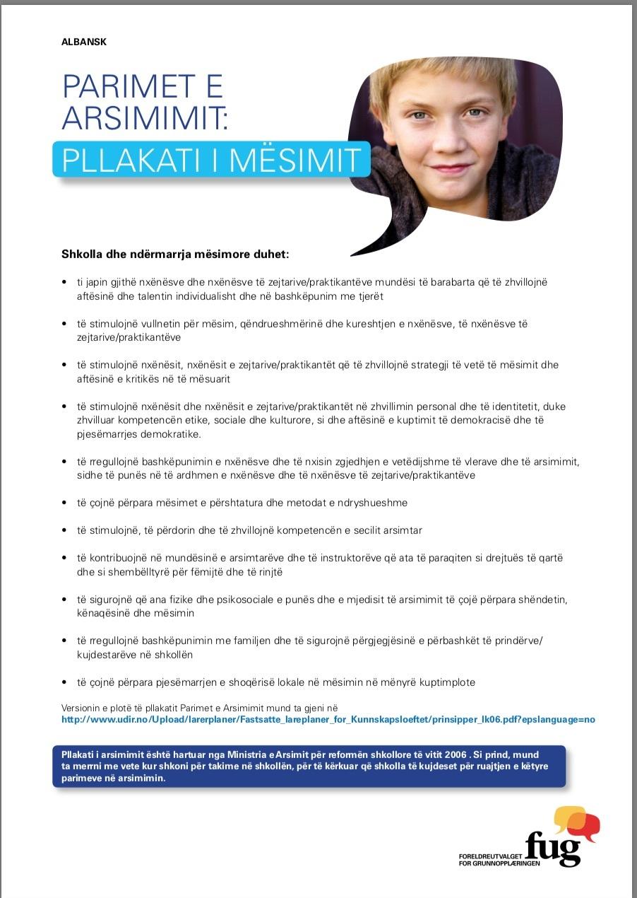 Læringsplakaten albansk