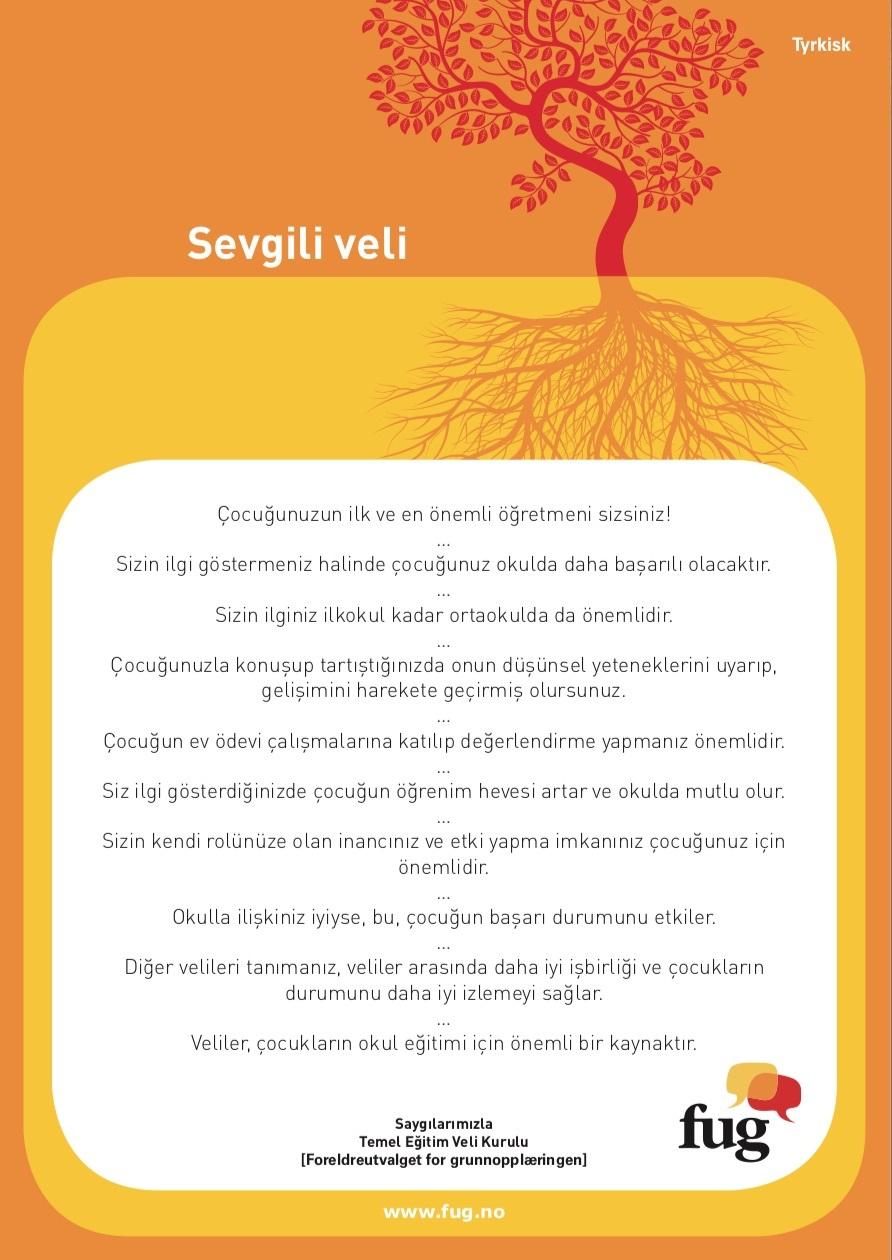 Foreldreplakaten tyrkisk
