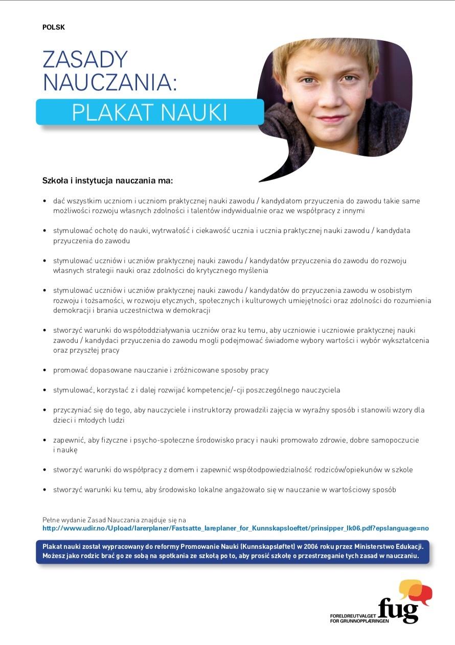 Læringsplakaten polsk