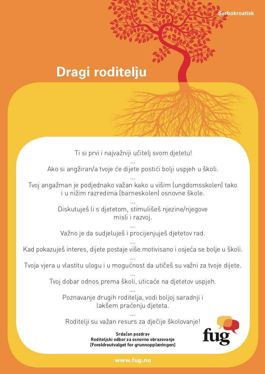 Foreldreplakaten serbokroatisk