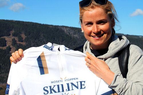 Marthe Kristoffersen er blitt mosjonist, men trener fortsatt hardt. Inneværende sesong er hun en del av Team Mosetertoppen Skiline. Foto: Privat.